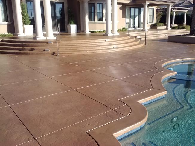 Amazing Pool Deck finished with Endurable Sealer and Stain