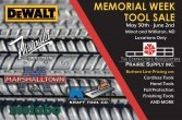 Williston and Minot Tool Sale May 30 - June 2