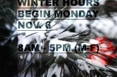 Winter and Holiday Hours