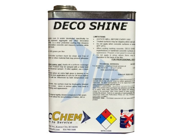 Deco Shine Products Amp Equipment Prairie Supply Inc
