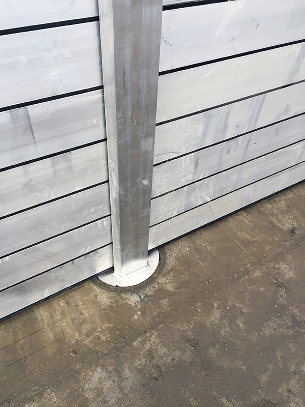 TKR aluminum stop log system features a modular design that can be quickly installed, stored, and uninstalled, all while being anchored securly to the base with just a quarter turn locking mechanism